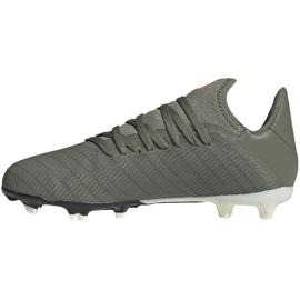 Buty piłkarskie adidas X 19.3 Fg Junior zielone EF8374 szare 2
