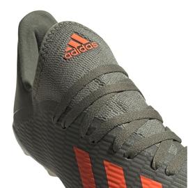 Buty piłkarskie adidas X 19.3 Fg Junior zielone EF8374 szare 3