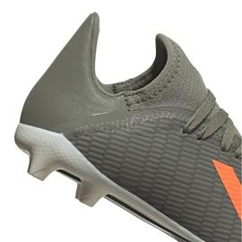 Buty piłkarskie adidas X 19.3 Fg Junior zielone EF8374 szare 4