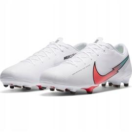 Buty piłkarskie Nike Mercurial Vapor 13 Academy FG/MG M AT5269 163 białe 2