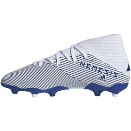 Buty piłkarskie adidas Nemeziz 19.3 Fg Jr EG7245 szare srebrny 2
