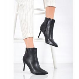 Sweet Shoes Seksowne Botki Z Eko Skóry czarne 4
