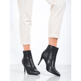 Sweet Shoes Seksowne Botki Z Eko Skóry czarne 1