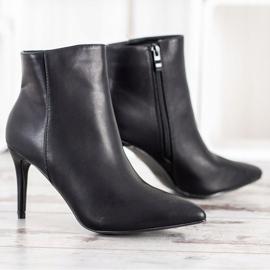 Sweet Shoes Seksowne Botki Z Eko Skóry czarne 3