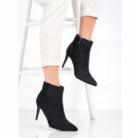 Sweet Shoes Seksowne Zamszowe Botki czarne 2