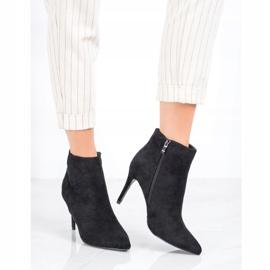 Sweet Shoes Seksowne Zamszowe Botki czarne 1
