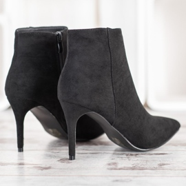 Sweet Shoes Seksowne Zamszowe Botki czarne 3