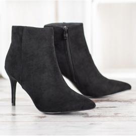 Sweet Shoes Seksowne Zamszowe Botki czarne 4