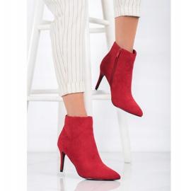 Sweet Shoes Seksowne Zamszowe Botki czerwone 1
