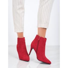 Sweet Shoes Seksowne Zamszowe Botki czerwone 4