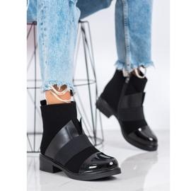 ENPLUS Czarne Botki Fashion 1