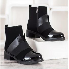 ENPLUS Czarne Botki Fashion 3