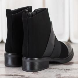 ENPLUS Czarne Botki Fashion 4