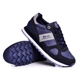 Damskie Sportowe Obuwie Sneakersy Big Star Granatowe GG274676 niebieskie szare 7
