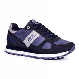 Damskie Sportowe Obuwie Sneakersy Big Star Granatowe GG274676 niebieskie szare 1