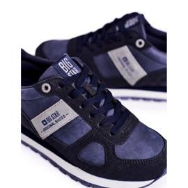 Damskie Sportowe Obuwie Sneakersy Big Star Granatowe GG274676 niebieskie szare 5