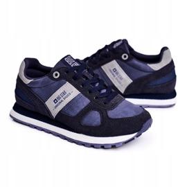 Damskie Sportowe Obuwie Sneakersy Big Star Granatowe GG274676 niebieskie szare 6