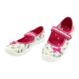 Befado obuwie dziecięce 114X392 różowe srebrny szare 3
