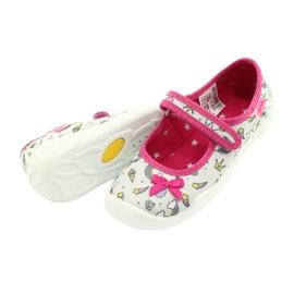 Befado obuwie dziecięce 114X392 różowe srebrny szare 4