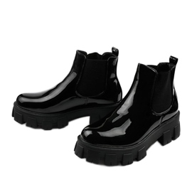 Czarne botki na platformie Lilney NC1086 3