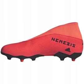 Buty piłkarskie adidas Nemeziz 19.3 Ll Fg EH1092 pomarańczowe pomarańczowe 2