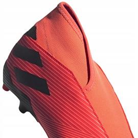 Buty piłkarskie adidas Nemeziz 19.3 Ll Fg EH1092 pomarańczowe pomarańczowe 4