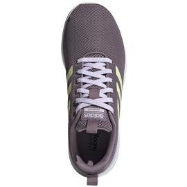 Buty damskie adidas Lite Racer Cln fioletowe EG3147 szare 1