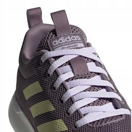 Buty damskie adidas Lite Racer Cln fioletowe EG3147 szare 4