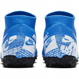 Buty piłkarskie Nike Mercurial Superfly 7 Academy Tf AT7978 414 niebieskie wielokolorowe 3
