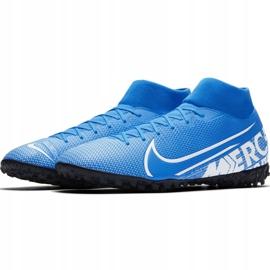 Buty piłkarskie Nike Mercurial Superfly 7 Academy Tf AT7978 414 niebieskie wielokolorowe 2