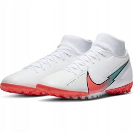 Buty piłkarskie Nike Mercurial Superfly 7 Academy Tf AT7978 163 białe białe 3
