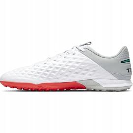 Buty piłkarskie Nike Tiempo Legend 8 Academy Tf AT6100 163 białe białe 2