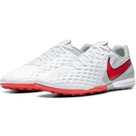 Buty piłkarskie Nike Tiempo Legend 8 Academy Tf AT6100 163 białe białe 3
