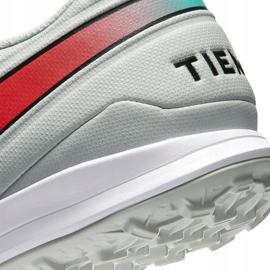 Buty piłkarskie Nike Tiempo Legend 8 Academy Tf AT6100 163 białe białe 6