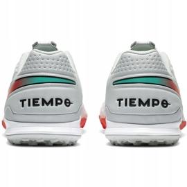 Buty piłkarskie Nike Tiempo Legend 8 Academy Tf AT6100 163 białe białe 4