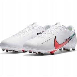 Buty piłkarskie Nike Mercurial Vapor 13 Academy FG/MG AT5269 163 białe białe 3