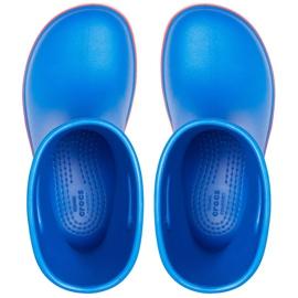 Crocs kalosze dla dzieci Crocband Rain Boot Kids niebieskie 205827 4KD 1