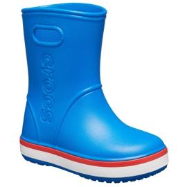 Crocs kalosze dla dzieci Crocband Rain Boot Kids niebieskie 205827 4KD 2