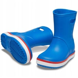 Crocs kalosze dla dzieci Crocband Rain Boot Kids niebieskie 205827 4KD 3