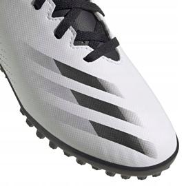 Buty piłkarskie adidas X GHOSTED.4 Tf Junior FW6801 szare białe 3
