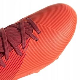 Buty piłkarskie adidas Nemeziz 19.3 Fg Junior EH0492 pomarańczowe czerwone 3