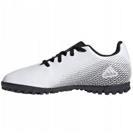 Buty piłkarskie adidas X GHOSTED.4 Tf Junior FW6801 szare białe 2