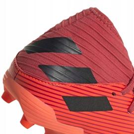 Buty piłkarskie adidas Nemeziz 19.3 Fg Junior EH0492 pomarańczowe czerwone 4