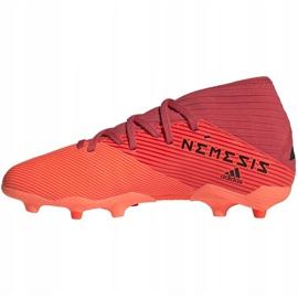 Buty piłkarskie adidas Nemeziz 19.3 Fg Junior EH0492 pomarańczowe czerwone 2