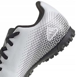 Buty piłkarskie adidas X GHOSTED.4 Tf Junior FW6801 szare białe 4