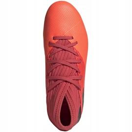 Buty piłkarskie adidas Nemeziz 19.3 Fg Junior EH0492 pomarańczowe czerwone 1