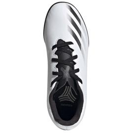 Buty piłkarskie adidas X GHOSTED.4 Tf Junior FW6801 szare białe 1