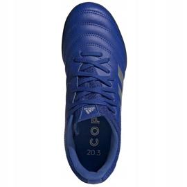Buty piłkarskie adidas Copa 20.3 Tf Junior EH0915 niebieskie niebieskie 1