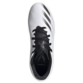 Buty piłkarskie adidas X GHOSTED.4 FxG Junior FW6798 białe białe 1