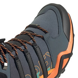 Buty męskie adidas Terrex Swift szaro-pomarańczowo-niebieskie FV6840 3